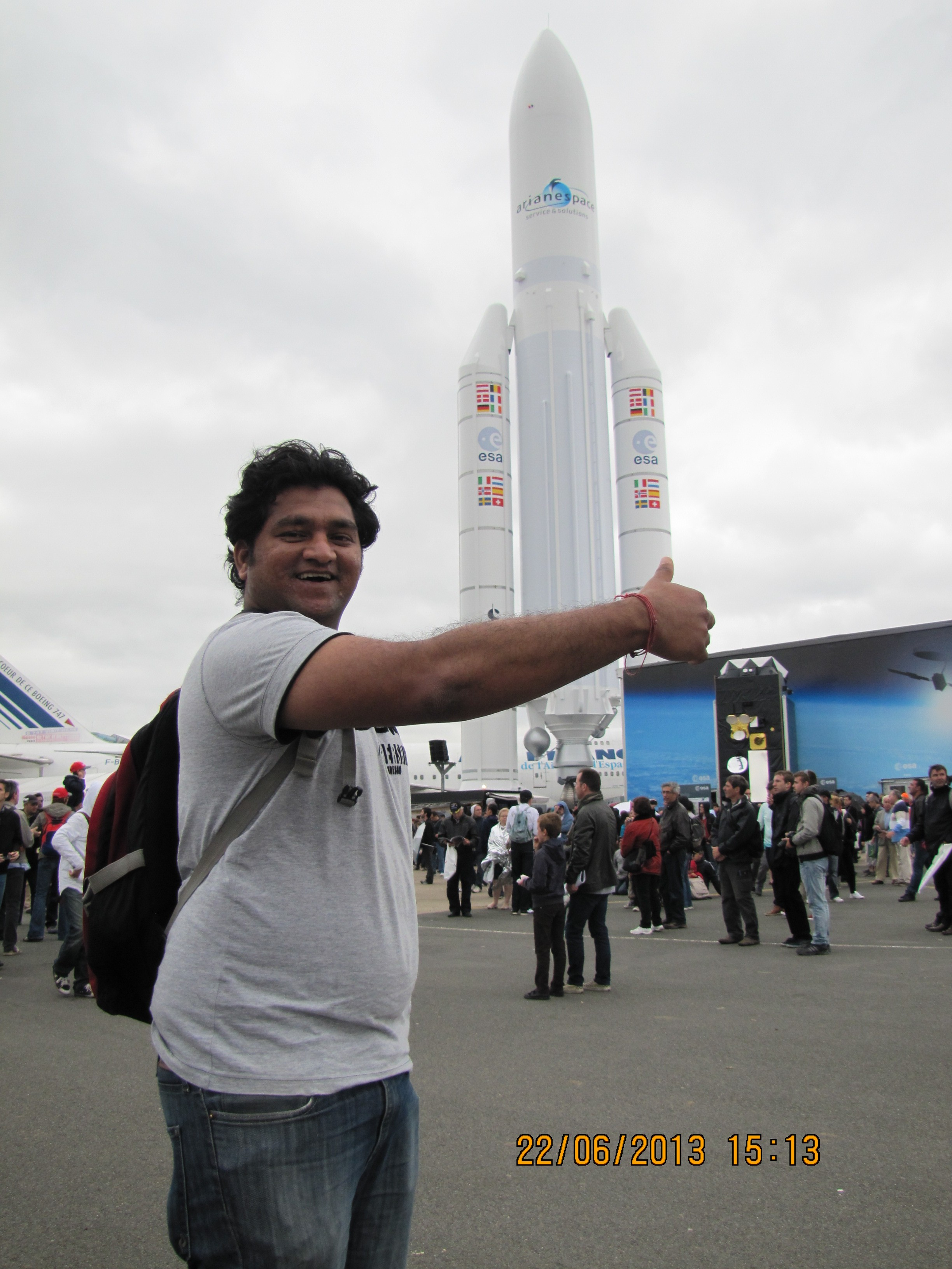 amit chougule in paris air show